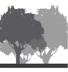 tree foliage trunk branch image vector image vector image