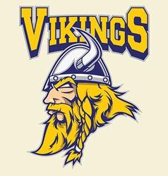 viking warrior mascot vector image vector image