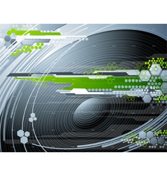 Abstract futuristic background with stereo speaker vector image vector image