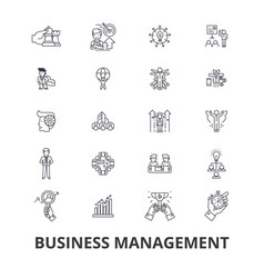 business management marketing plan manager vector image