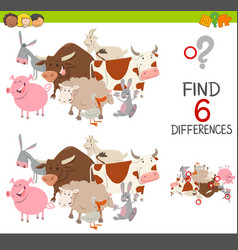 Educational finding differences game vector