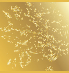 Golden background with grunge concentric circles vector