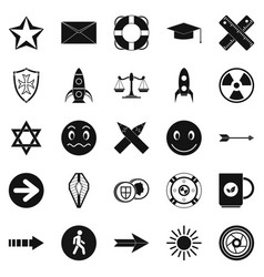 ideograph icons set simple style vector image vector image