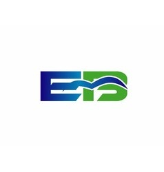 Letter E and B logo vector image vector image