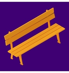 Park Bench Isolated Isometric vector image vector image