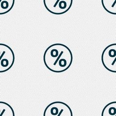 percentage discount icon sign Seamless pattern vector image