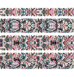 set of vintage border brushes templates baroque vector image