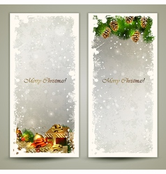 Two greeting cards vector image