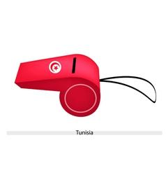A Whistle of The Tunisian Republic Flag vector