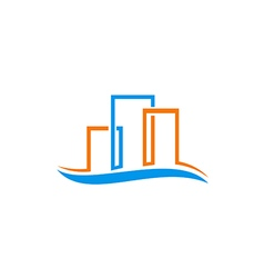 Abstract building cityscape construction logo vector