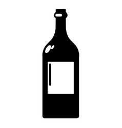 alcohol bottle icon simple style vector image