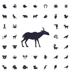Antelope icon vector