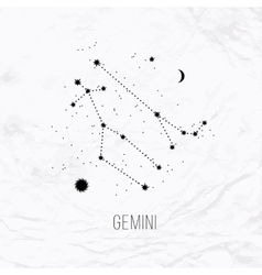 Astrology sign Gemini on white paper background vector image