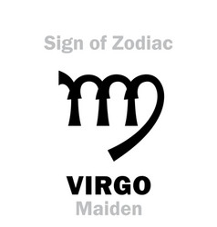 astrology sign of zodiac virgo the maiden vector image