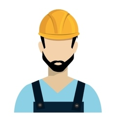 Avatar constrcution man and helmet graphic vector