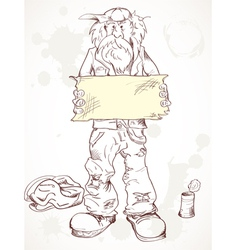 Beggar with a sign vector