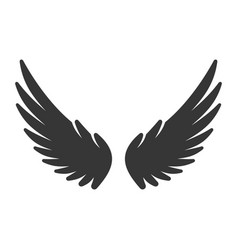 bird wing icon on white background vector image