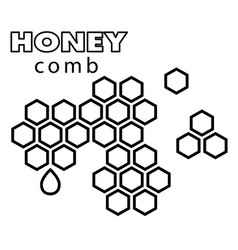 Black and white honeycomb background image vector