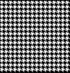 black and white hounds tooth seamless pattern vector image