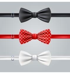 Bow Ties Realistic Set vector