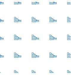 Broken house icon pattern seamless white vector