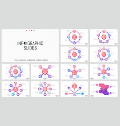 bundle of minimalist infographic design layouts vector image