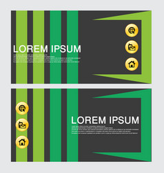 business card template design backgrounds vector image