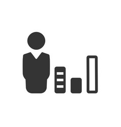 business graphical report icon vector image