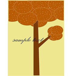 Card patterned brown tree vector