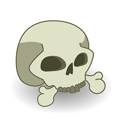 Cartoon comics style skull vector