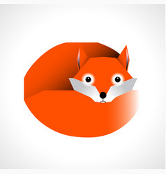 cartoon fox isolated on white background vector image