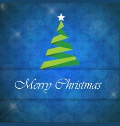 christmas card with pattern and tree vector image
