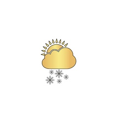 Cloud snow computer symbol vector