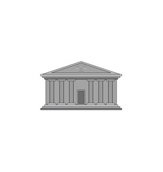 color image court building with columns vector image
