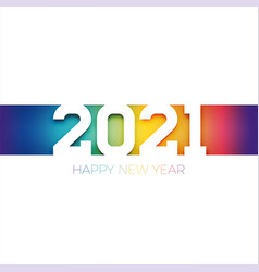 colorful yet discreet minimalistic happy new year vector image
