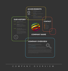 company infographic overview design template vector image