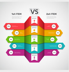 Comparison infographic business chart with choice vector