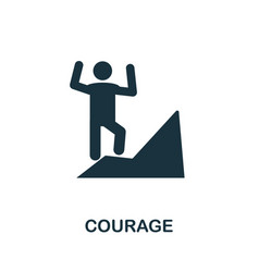 Courage icon symbol creative sign from business vector
