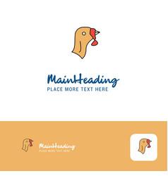 Creative turkey logo design flat color logo place vector