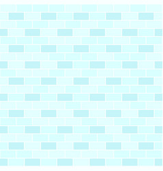 Cyan brick wall pattern seamless brick background vector