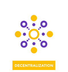 Decentralization icon logo vector