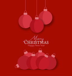 decorative christmas balls vector image