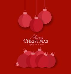 decorative christmas balls vector image
