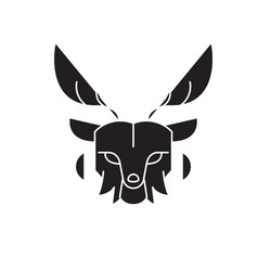 deer head black concept icon deer head vector image