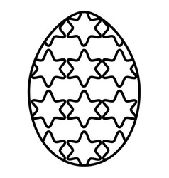 egg painted with stars happy easter vector image