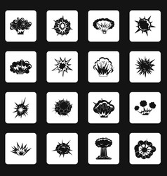 explosion icons set squares vector image