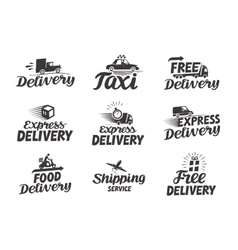 Express delivery service logo icon or vector