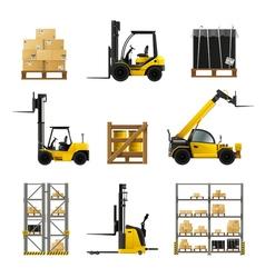 Forklift Realistic Set vector image