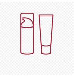 Foundation face cream thin line icon vector
