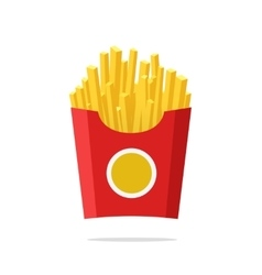 French fries fried potatoes vector